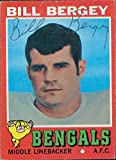 Signed Bergey, Bill (Cincinnati Bengals) 1971 Topps Football Card in black ball point pen. autographed