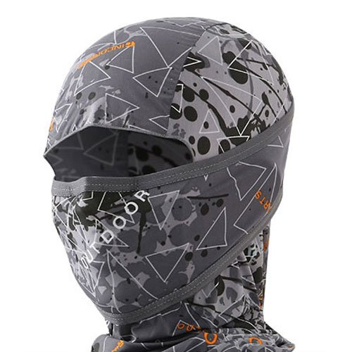 INCONTRO Outdoor Motorcycle Full Face Mask Balaclava Ski Neck Protection Clothing Neck Gaiter Bandana, Lightweight & Breathable Hiking, Outdoor, Fishing Mask, (Tri-Black)