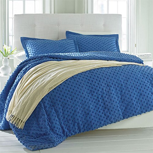 Brylanehome Piper Chenille Dot Comforter (Periwinkle,King)