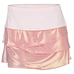 Lucky in Love Metallic Scallop Skirt-Large-Pink Tint