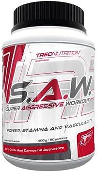 Trec Nutrition SAW, Fórmula Pre-Entrenamiento, Sabor Cereza-Pomelo - 400 gr