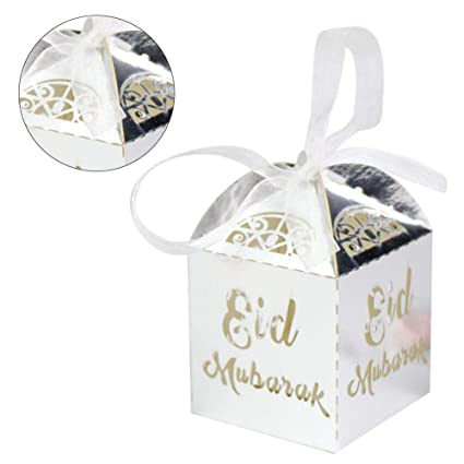Amazon Com Dacyflower 50 Pcs Bag Candy Gift Box Eid Chocolate Gift