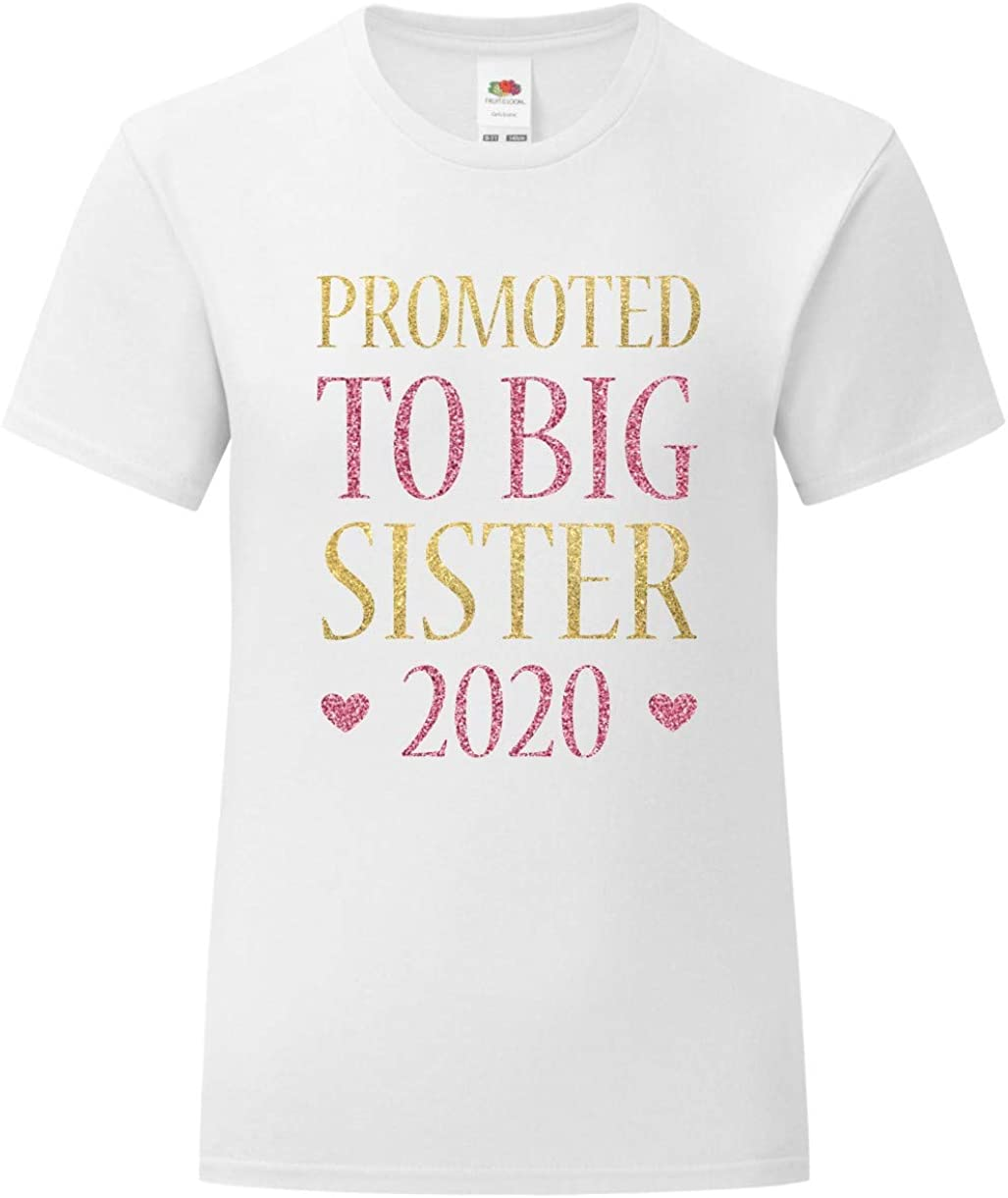 Little Sister Gold /& Pink Glitter T-Shirts and Bodysuits T-Shirts /& Bodysuits Direct 23 Ltd Big Middle