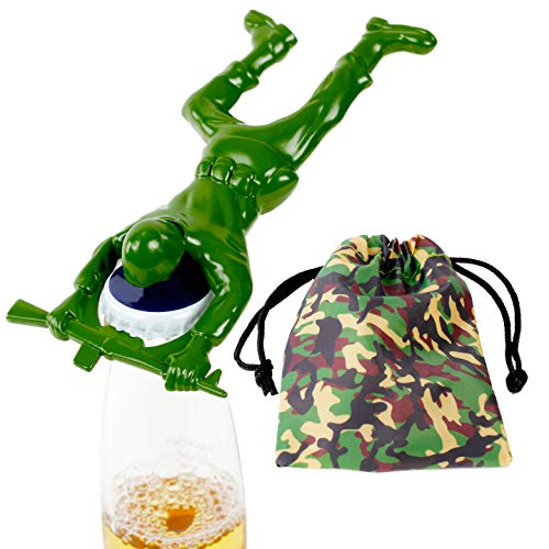- Army Man Bottle Opener. Includes Camouflage Draw String Gift or Storage Bag. Unique Gifts for Men by Qualitas Products
