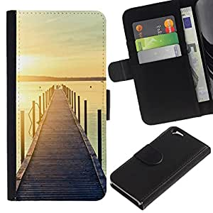 All Phone Most Case / Oferta Especial Cáscara Funda de cuero Monedero Cubierta de proteccion Caso / Wallet Case for Apple Iphone 6 // Jetty Dock Beach Sunset Lake