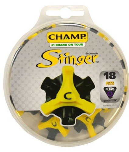 Champ Scorpion Stinger Q-Lok 18 Count Golf Spikes, Outdoor Stuffs