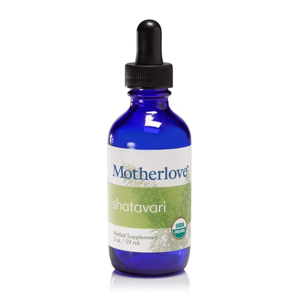 Motherlove Shatavari Organic Herbal Breastfeeding Supplement for Female Hormone Balance and Lactation Support, 2 oz Liquid Tincture