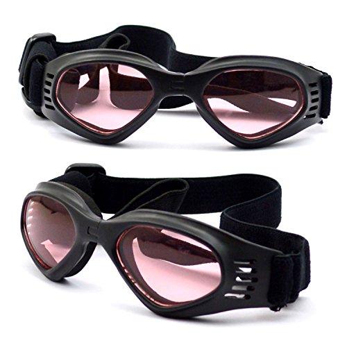 (WESTLINK Dog Sunglasses Eye Wear UV Protection Goggles Pet Fashion Matte Black Medium)