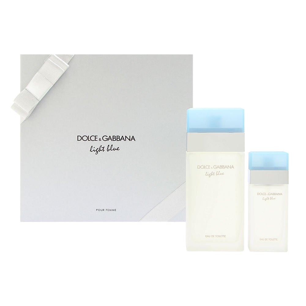 Light Blue by Dolce & Gabbana for Women 2 Piece Set Includes: 3.3 oz Eau de Toilette Spray + 0.84 oz Eau de Toilette Spray