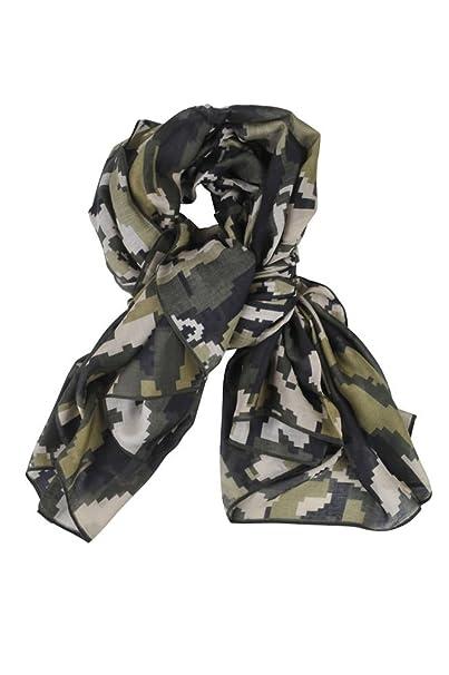 klassische Stile Genieße am niedrigsten Preis lebendig und großartig im Stil Furla Schal Damen Grün Beige Geometrische Muster Modal 140 ...