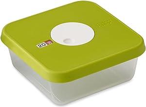 Joseph Joseph Dial Storage Square Container with Datable Lid, 40.6 oz