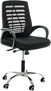 Office desk chair - base and back of mesh cloth- star nickel