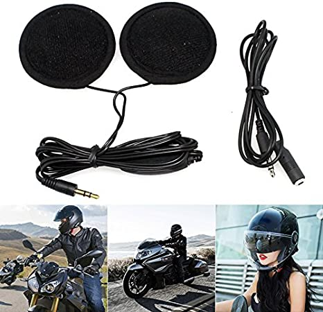 3,5mm moto de la motocicleta del casco de altavoces estéreo