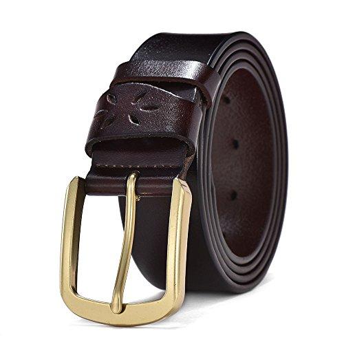 879823e02a5 Barato Wellcce Cinturones de hombre 100% Cuero Cinturones de Piel Cinturón  jeans Cinturón de hebilla