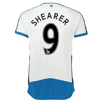 Puma Unisex Newcastle Home Equipo de fútbol Club réplica Shirt-Black/Blanco Royal, tamaño Mediano, Hombre, Shearer 9, M Adults: Amazon.es: Deportes y aire ...
