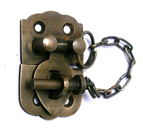 Small Trunk or Chest Hasp With Chain Pin by Nesha by Nesha Design Components (Image #1)
