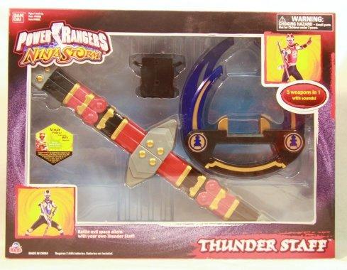 Power Rangers Ninja Storm Thunder Staff (Power Rangers Ninja Storm Staff)