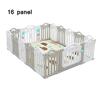 Amazon.com: QFFL - Parque de juegos para bebés, 16 paneles ...