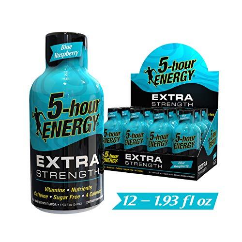 5-hour ENERGY Shot, Extra Strength Blue Raspberry, 1.93 Ounces 12 Count (Energy Grape 5hr)