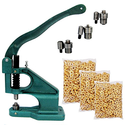 ECO-WORTHY All Metal Manual Grommet Banner Press Machine & 3 Die Mould & Eyelet Hand Press (Industrial Grommet Machine compare prices)