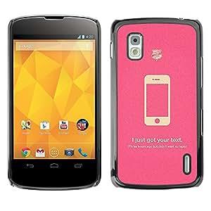 MOBMART Carcasa Funda Case Cover Armor Shell PARA LG Nexus 4 E960 - Lies Phones Tell