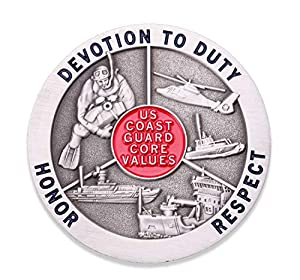 Coast Guard Core Values Challenge Coin - United States Coast Guard Challenge Coin - Amazing US Coast Guard Military Coin - Designed by Military Veterans! by Coins For Anything Inc