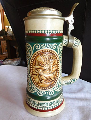 (Avon 1978 Lidded Stein The Strike.Rainbow Trout, At Point...English Setter)