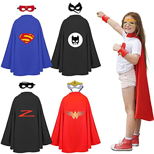 Superheroes Costume Set for Kids, Boys, Girls - 8-Piece Set - Dress-Up Group -Party Supplies-Durable, Materials