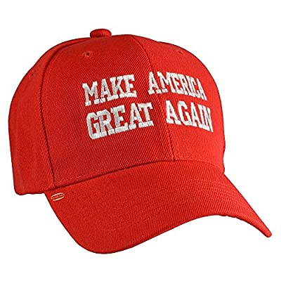 Top Quality Make America Great Again Embroidered Donald Trump 2016 Campaign Ball Cap in Red