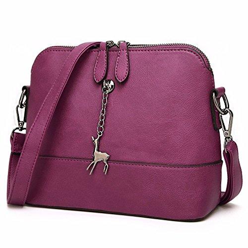 Mujer Vacaciones Pequeña Purple Bandoleras Elegante Hombro Bolso Señoras Bolsos para Bolsas Brown Regalos de De Bolsas Bolsos 5qw4AzAWv