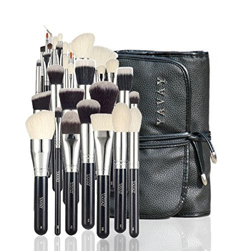 Brush Master Set - YAVAY 32PCS MASTER MAKEUP BRUSHES Premium Makeup brush set Soft Taklon Goat Hair Professional Makeup Artist Brush Tool Kit Y32