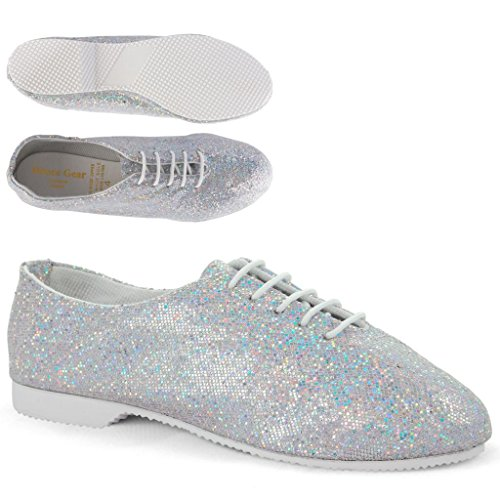 Full Silver Dance Shoes GJSR Jazz Sole Glitter Gear vwtqP