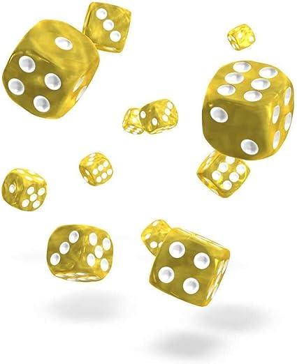 Oakie Doakie Dice D6 Dice 12 mm Marble Role Playing Giochi Tavolo Yellow 36