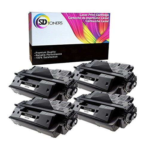 SD Toners 4-PK Replacement C4127X 27X Black Toner Cartridge for Laserjet 4000, 4000N, 4000T, 4000TN, 4000se, 4050, 4050N, 4050T, 4050TN, (4000t Printer)