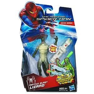 Hasbro 38327 - Spider-Man, figura de lagarto lanzador de misiles, color verde
