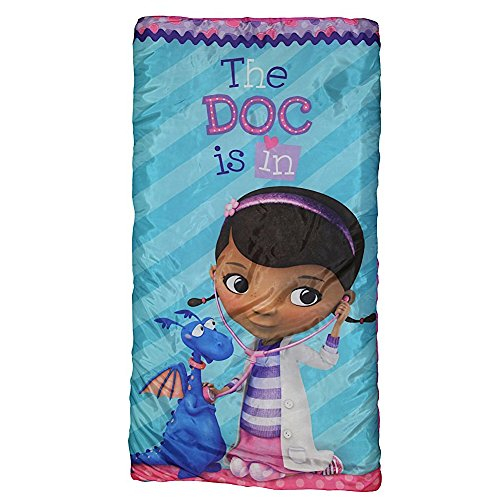 Doc Mcstuffins Girls Sleeping Bag and Sling Slumber Set (Doc Mcstuffins Gift Bag)