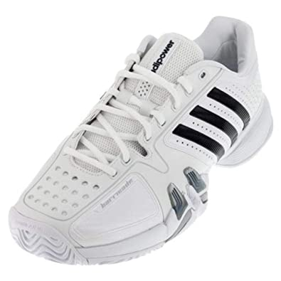 3665a6810bf Adidas adiPower Barricade 7.0 Men s Tennis Shoe - White Black Light Onix (8