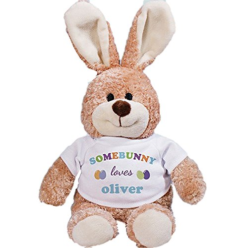 Personalized Somebunny Loves Me Plush 12