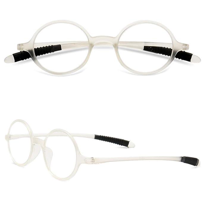 02362d8348 VEVESMUNDO Gafas de Lectura Mujer Hombre Vintage Redondo Flexibles Pequeñas  Vista Presbicia 1.0 1.25 1.5 1.75 2.0 2.25 2.5 2.75 3.0 3.25 3.5 3.75 4.0:  ...