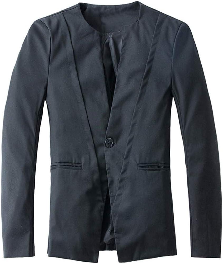 Ennglun Mens Xmas Suit,Mens Slim Long Sleeve Suit Jacket Trench Coat for Men
