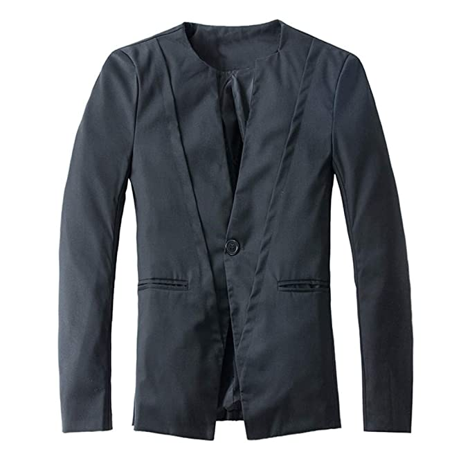 Amazon.com: Chaqueta para hombre Blazer Trench Coat para ...