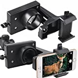 Rifle Scope Smartphone Mount Adapter for Semi Auto Rifle Scopes and Action Bolt Riflescopes - Smart Phone Mount - Record Hunt in the Screen