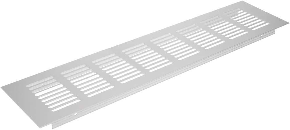 PrimeMatik - Rejilla de ventilación para zócalo Placa Aluminio 350x80mm