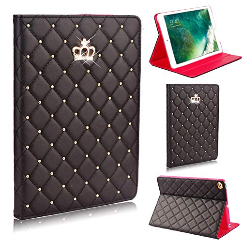 iPad 9.7 2018 2017 Case 5th / 6th Gen Cover Bling iPad Air 2 Case, Air 1 Case,Sparkly Glitter Folio Stand Smart Cover Protective iPad Case for iPad 9.7 2017 2018 iPad Air Air 2 Cover case (Black)