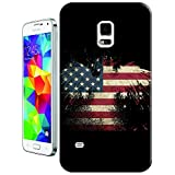 Sangu the American Flag Eagle Black Hard TPU Samsung Galaxy S5 Case by Sangu