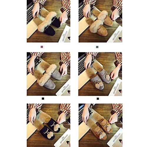 gray gray 35 Versione Mezza In Inverno Tingting Di B Moda Al Resistenza Indossare Selvaggia Pattini Ciabatte Dimensioni B Autunno Cotone Scarpe Coreana E Pantofole colore w4SBqRx