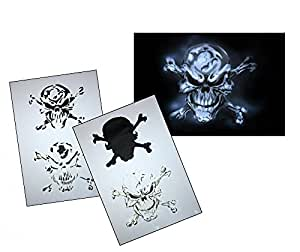 UMR-Design AS-063 pirate skull Airbrushstencil Step by Step Size M