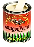 General Finishes PAW Water Based Milk Paint, 1 Pint, Antique White