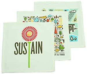 PeopleTowels 3-Pack 3 Ways to Save the Earth Towel