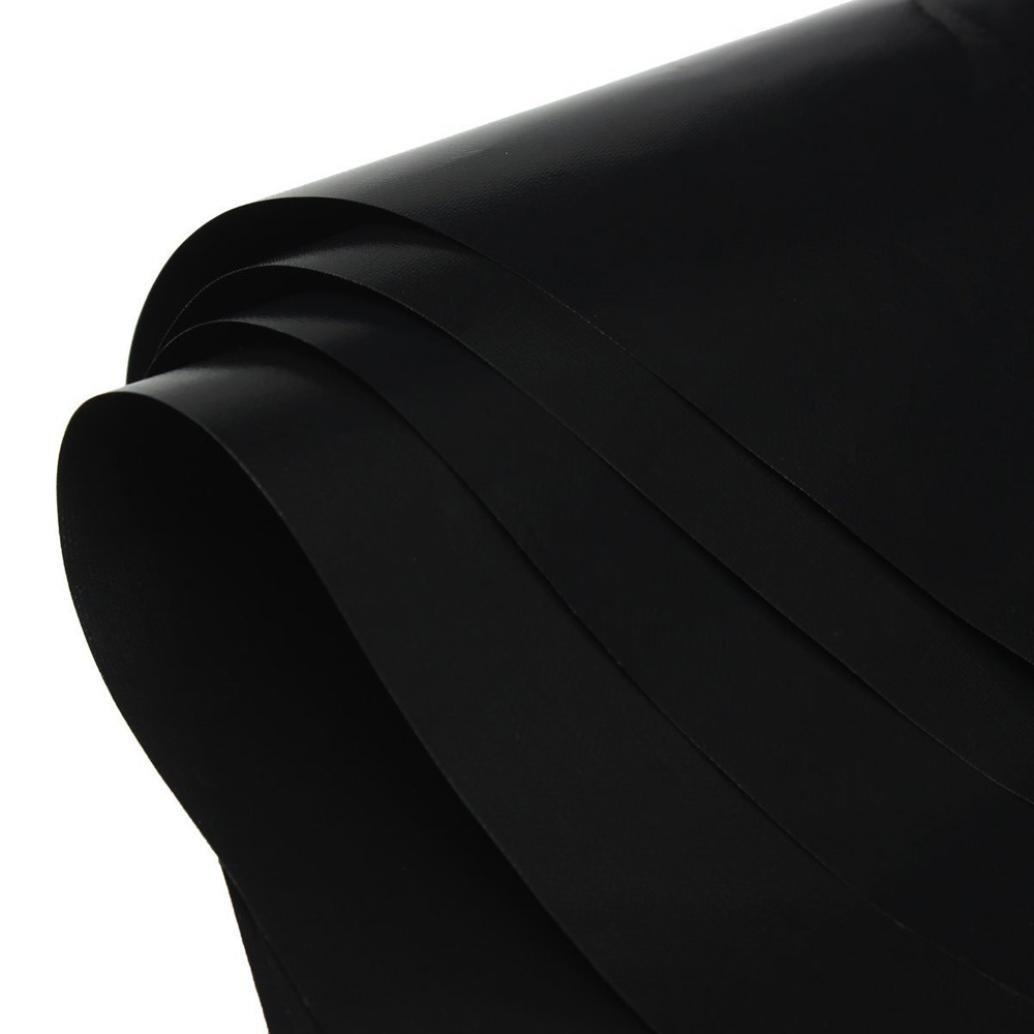 UMFun Reusable Gas Range Stovetop Burner Protector Liner Cover For Cleaning Kitchen Liner 270x0.4x270mm (Black)